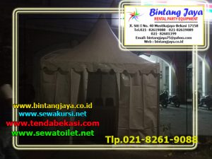 Menyewakan Tenda Baik Tenda Roder, Kovensional